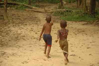 A couple of jungle village kids
