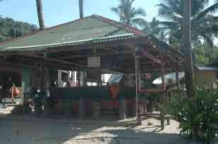One of several beach bars