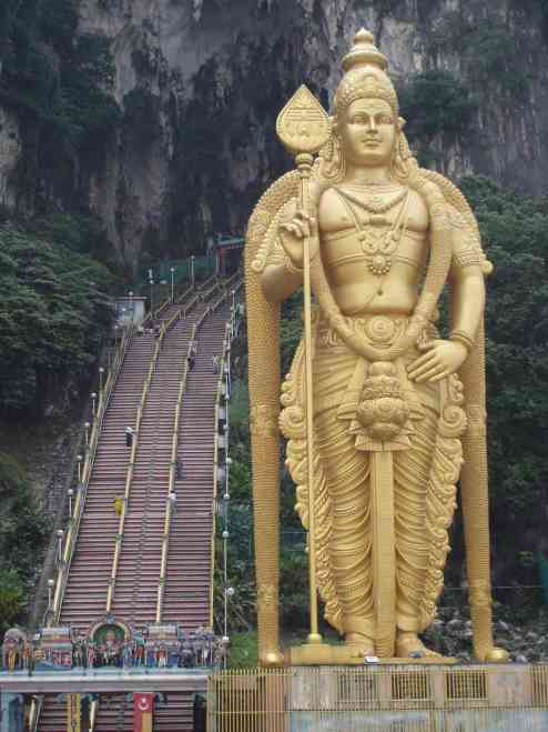 The awesome entrance to Batu Caves