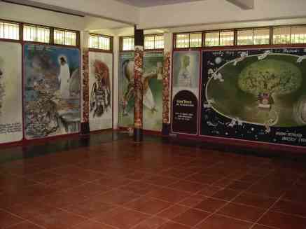 Various murals within a Buddhist monastery