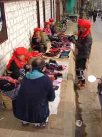 A haggling tourist in Sapa