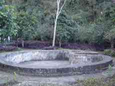 The heart of the Laos people created out of a bomb crater in Vieng Xay