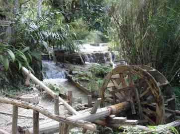The idyllic Kuang Si Falls