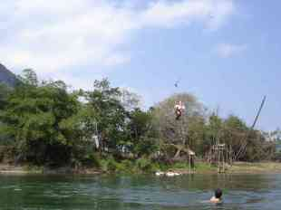 World-famous tubing in Vang Vieng