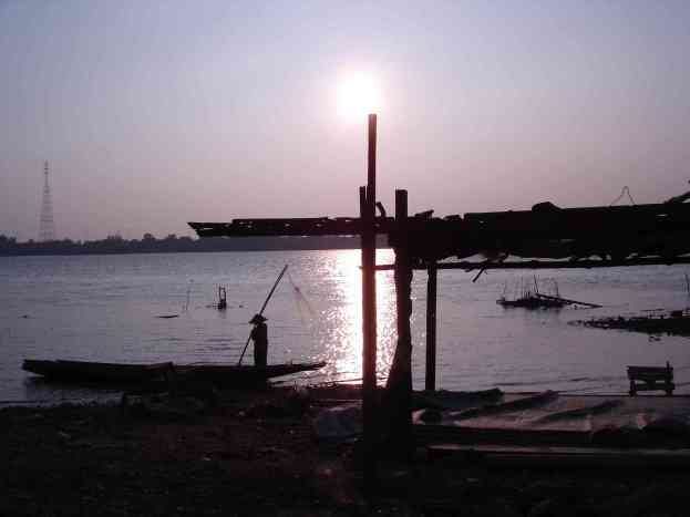 An amazing Mekong sunset