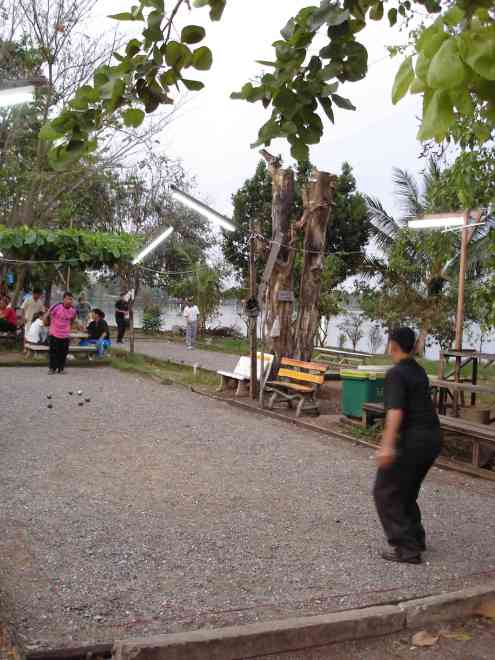 Bocce is a popular past-time in the NE states, as it is in Laos