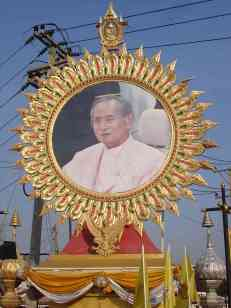 The beloved King Rama IX who has sat on the throne for over 60 years