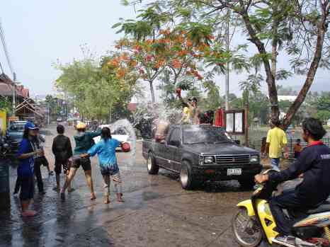One of many Songkran battles