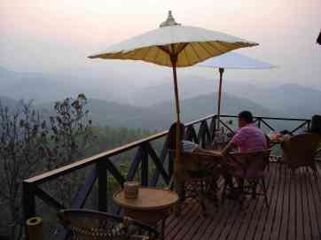 A favourite sunset spot at the top of the hill in Mae Hong Son