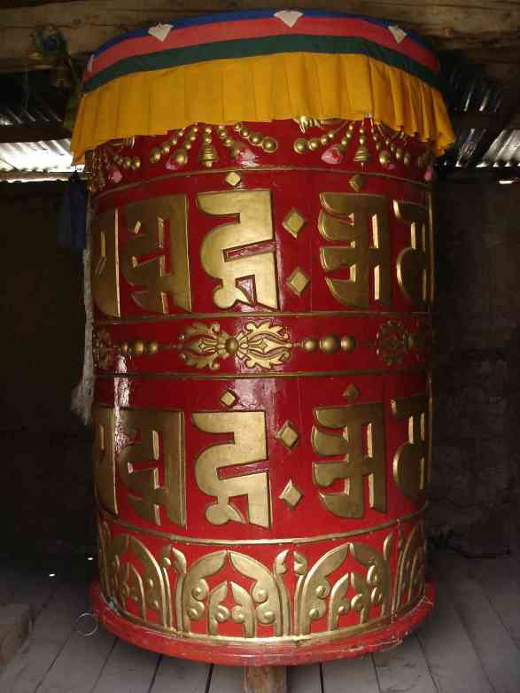 A large prayer wheel