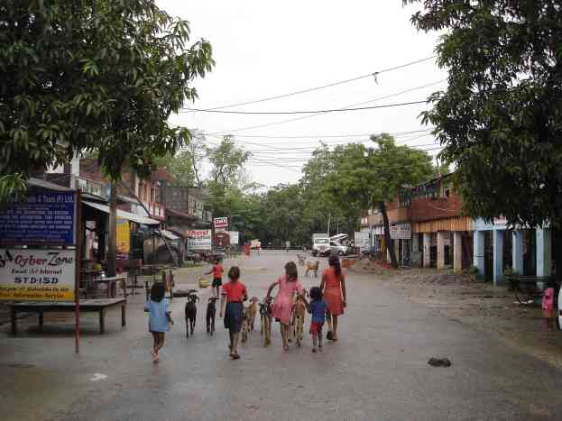 The streets of Lumbini
