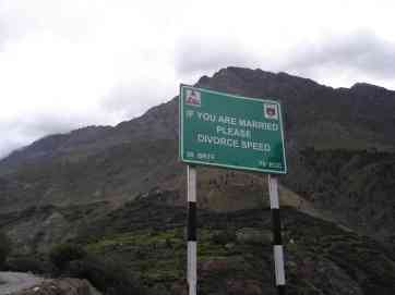 One of many hilarious Indian road signs