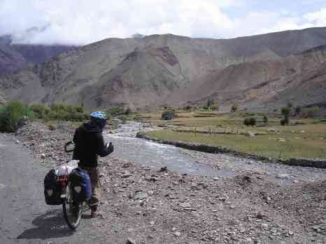 Rolling down through nice Tibetan villages