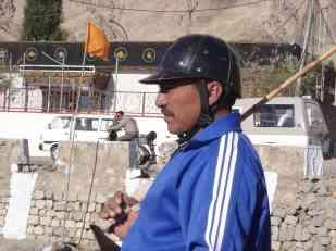 Polo player in Leh