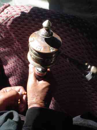 Most locals carried small prayer wheels to spin whenever given the chance