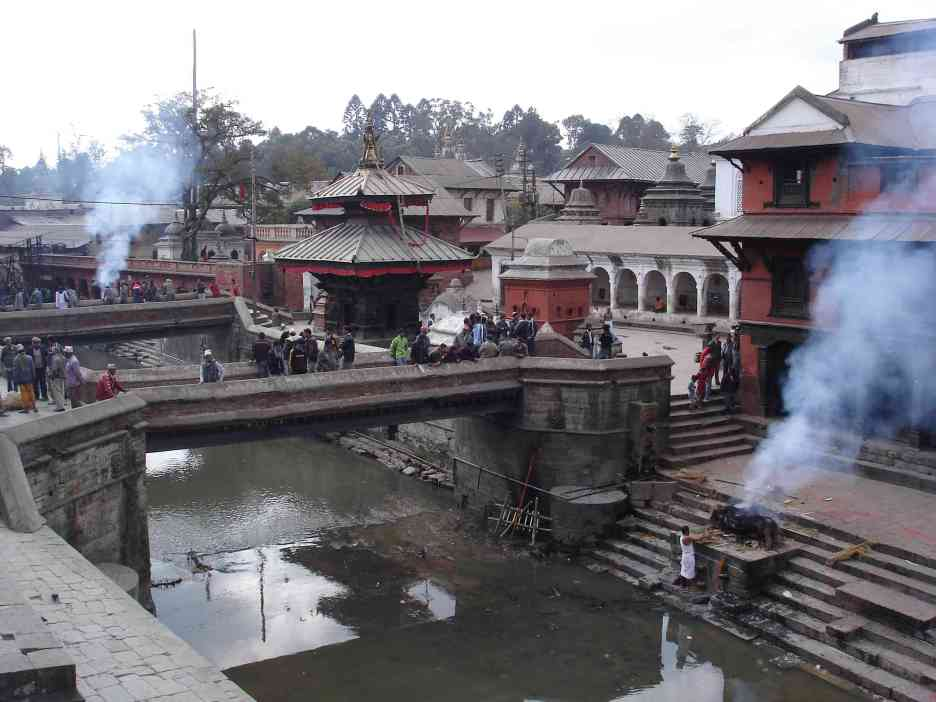 The smoke rises over Pashupatinath