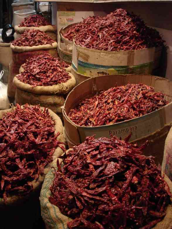 Red chillies in the pink bazaar