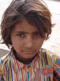 A kid with typical deep Rajasthani eyes