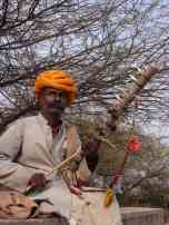 A local busker with a sweet Rajasthani mo