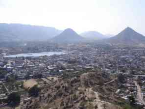 Pushkar from a nearby hill
