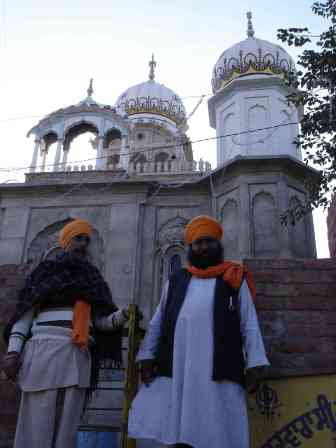 Two of my many Sikh hosts