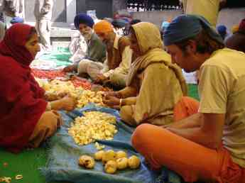 Doing my bit in the Golden Temple's guru ka langar