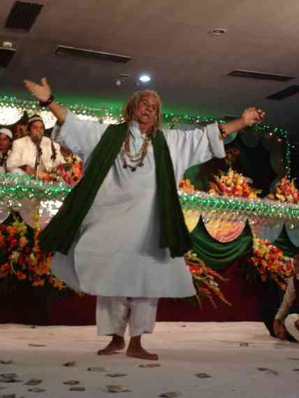 A sufi holy man has a dance