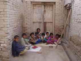 Schoolkids doing their homework