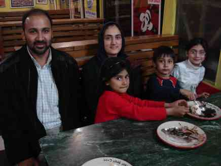 My host Nauman and his family out for ice cream