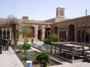 The courtyard of an ancient house in the Old City of Yazd