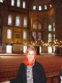 Mum in the Blue Mosque