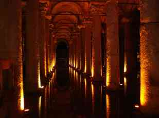 The Basilica Cistern beneath Istanbul