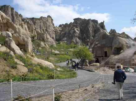 An ancient village in Cappadocia