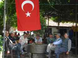 Old Turkish men sitting around chewing the fat