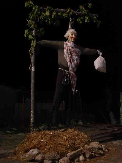 Judas effigy for Easter
